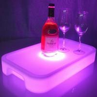 Quality Plastic Lighting Fruit Bar Tray LED Ice Bucket Wholesale with Square or Round Design for sale