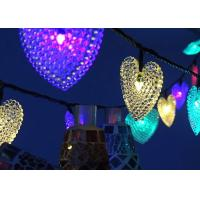 Quality Small Heart Solar Powered String Garden Lights Indoor / Outdoor Decoration for sale