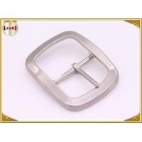 Quality Custom Silver Plated Pin Belt Buckle / Mens Fashion Belt Buckles for sale