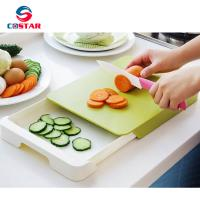 Buy cheap Plastic Chopping Block Multifunctional Drawer Storage Chopping Block Double Layer Antibacterial Cutting Board from wholesalers