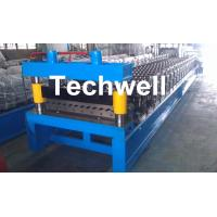 Quality Corrugated Profile Roll Forming Machine , Corrugated Sheet Making Machine With PLC Control System for sale