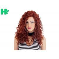 Quality High Quality Synthetic Wigs Red Color No Lace Synthetic Curly Wigs Natural Looking for sale
