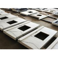 Buy Carrara Marble Prefabricated Vanity Tops 61 X 22 Single Double Sinks at wholesale prices