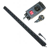 Quality Multi Plug 16 Way European Power Strip For Network / Laboratory / Factory 250V 16A for sale