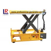 China Mobile Electric Hydraulic Scissor Lift Table For Carrying Cargo / Feeding Platform on sale