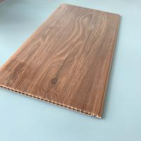Quality 10 Inches Brilliant Brown Color PVC Wood Panels Corrosion Resistance Various Styles for sale