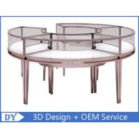 Quality Stainless Steel Frame Jewelry Display Cases , Jewellery Showroom Furniture for sale