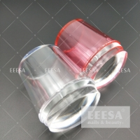 Quality 3.5Cm Clear Transparent Nail Art 3D Stamper With Plates for sale
