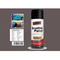 Quality Light Brown Color Graffiti Spray Paint  Strong Covering Power For Decoration for sale