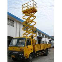 Quality Multi Foundation Aluminum Work Platform , 6.5m Height Trailer Mounted Scissor Lift for sale