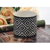 Quality Fashion black Ceramic Candle Holder , ceramic candlestick holders for sale