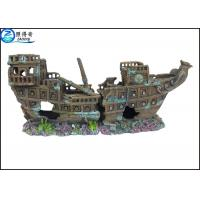 Buy Eco-friendly Vividly Ship Model Resin Ornaments For Aquarium Decoration at wholesale prices