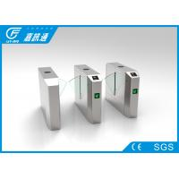 Quality Stainless Steel Glass Turnstile , Amusement Park Entrance Barrier Systems for sale