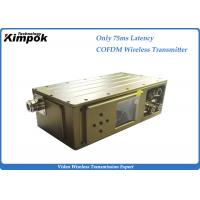 Quality 75ms Latency Cofdm Video Transmission 300-900Mhz Manpack COFDM Modulation for sale