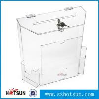 Quality wholesale acrylic donation/ suggestion/ money box for sale