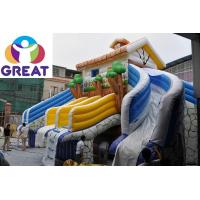 Buy cheap high quality large inflatable water slide with pool with warranty 48months GTWP from wholesalers