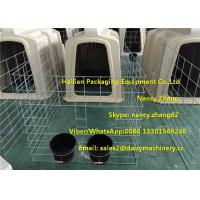 Buy cheap Small Dairy Farm Plastic Calf Hutches For Calves With Hot Dip Galvanized Steel from wholesalers