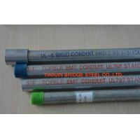 Quality 2 Inch / 3 Inch Galvanized EMT Pipe , Galvanized Steel Water Pipe Grade B , SS330 for sale
