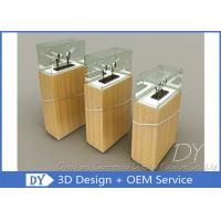 Buy cheap Durable Wooden Veneer Custom Glass Display Cases / Exhibition Display Stands from wholesalers