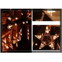 Quality Home LED Curtain Christmas Lights 0.7m Strings Stars Shaped Decoration for sale