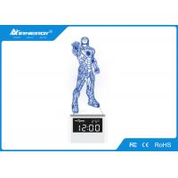 Blue Smart Touch Lamp Speaker With Alarm Clock And Time , 250*120*120mm Size