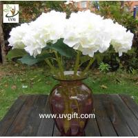 Quality UVG FHY23 Decoration flower artificial white hydrangea for indoor party decoration for sale
