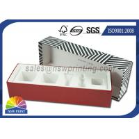 Quality Luxury Paper Gift Box Cosmetic Rigid Cardboard Box With Flocking Plastic Blister for sale
