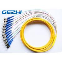 Buy cheap Multi - fiber 12 Core Fiber Optic Pigtail  , 1Meter or 1.5 m FC Ribbon Pigtail from wholesalers