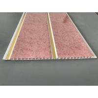 Buy Pink Marble Color Waterproof Wall Panels Normal Printing Surface 25cm Width at wholesale prices