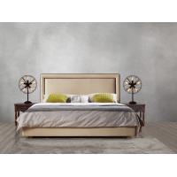 Buy 2017 new design of Leather / Fabric American style Bedroon furniture Upholstered headboard set bed/king size Bed at wholesale prices