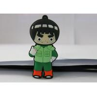 Quality Naruto PVC mould Custom USB Memory Stick , Usb Flash Thumb Drive Rock Lee for sale