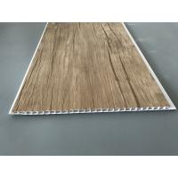Buy Wood Color Plastic Laminate Wall Covering , Pvc Laminated Ceiling Board at wholesale prices