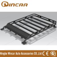 Quality 4x4 Roof Top Black Steel Luggage Rack With Light Brackets 130*105cm Size for sale