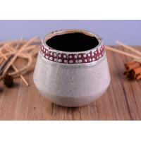 Quality Modern Personalized Ceramic Candle Holder , Concrete Candle Jars For Home Decoration for sale