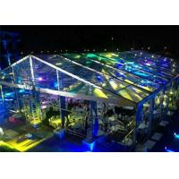 Quality Fire / Water Proof Transparent Tent Fabric Clear Event Tents 20m * 50m for sale