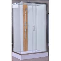 Quality 1200x800x2150mm Luxury Corner Shower Stalls , Rectangular  Shower Cabin with bamboo for sale