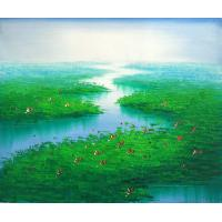 Quality landscape painting tree bird art painting for sale