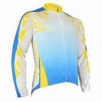 Quality Bicycle jersey with full zipper beautiful screen print for sale