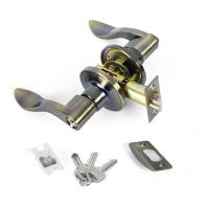 Buy Zinc Alloy Tubular Lever Antique Bronze Door Lock Handle Set Mortise Door Lock at wholesale prices