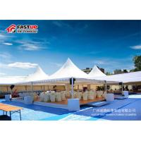 Buy cheap Fire Retardant 6 By 6 Festival Party Tent Pagoda Shape With Curtain Decoration from wholesalers
