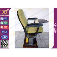 Buy Fixed Leg Foldable Movie Theater Seats With Writing Table , Plastic Church Chairs at wholesale prices