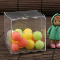 Quality plastic clear PVC box 3*3*3cm for candy stored and gift pakcaging for sale