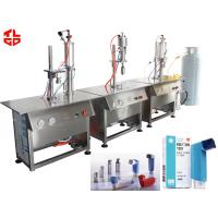 Quality MDI Dose Inhaler Nasal Spray Filling Machine , Small Spray Bottle Filling Machine for sale