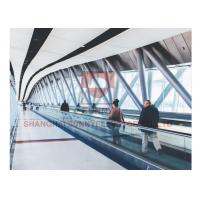 China 0° Automatic Airport Conveyor Belt Walkway 8kw With Vvvf Control Device on sale