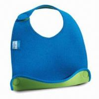 Quality Baby Bib, Customized Designs are Accepted, Made of Neoprene for sale