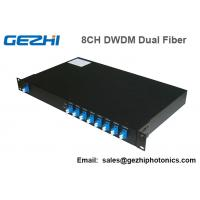 Quality 100Ghz DWDM 8 Channel Multiplexer and Demultiplexer in unit dual fiber for sale