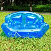 Quality Summer Home Garden Inflatable Kids Toys Double Perosn Sofa Bed / Outdoor Indoor Beach Chairs for sale