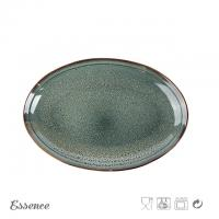 Quality Customized Color Ceramic Serveware Set , Ceramic Oval Stoneware Plates For Home / Cafe for sale