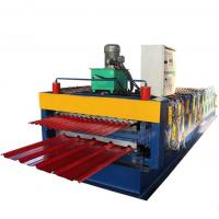 Buy cheap Double Layer Roofing Sheet Roll Forming Machine Galvanized Trapezoidal Shape For Building from wholesalers