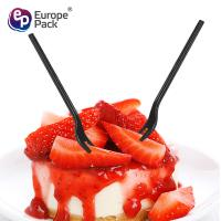 Buy Hot Sale New Products disposable PS plastic two prong fruit fork at wholesale prices